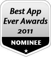 2011 Best App Ever Nominee Badge